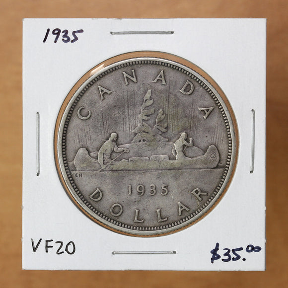 SOLD - 1935 - Canada - $1 - VF20 - retail $35
