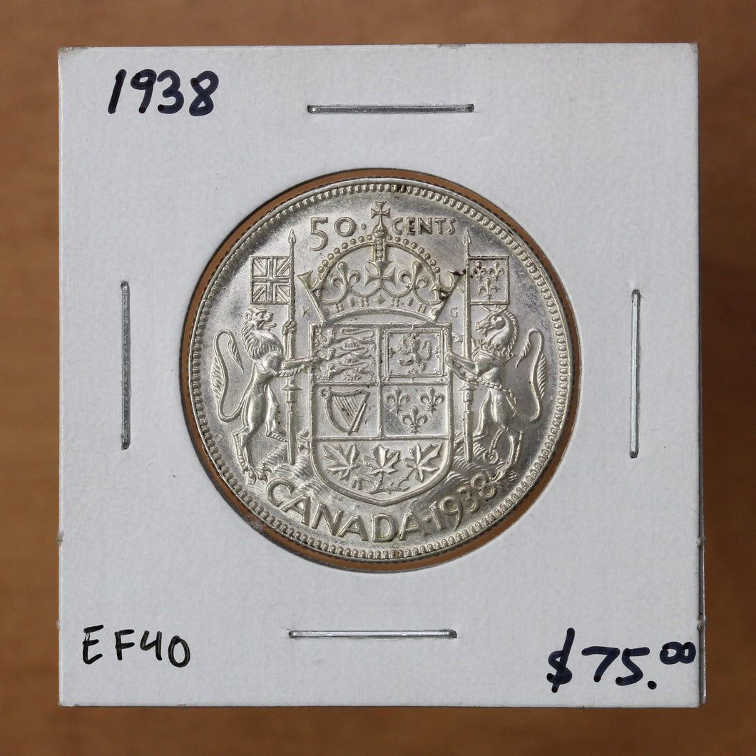 1938 - Canada - 50c - EF40 ON SALE!