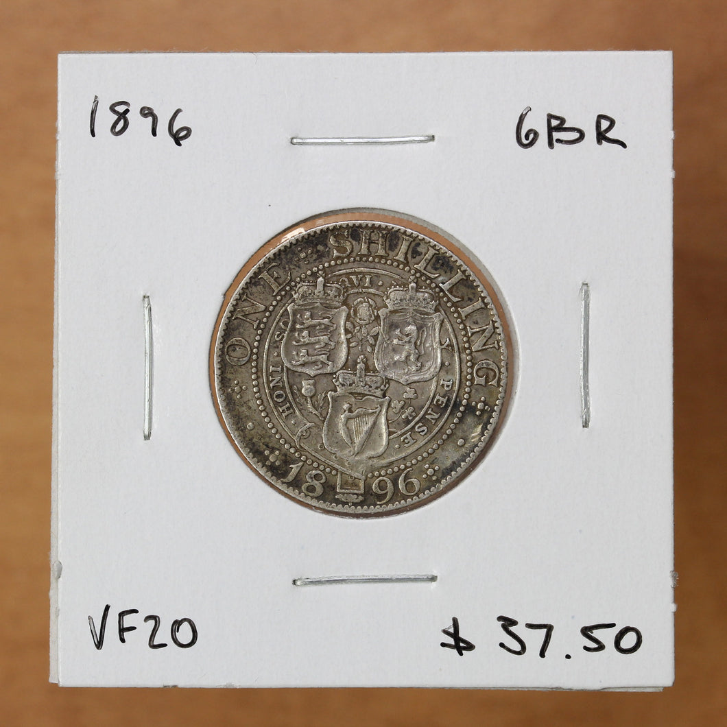 1896 - Great Britain - 1 Shilling - VF20 ON SALE!