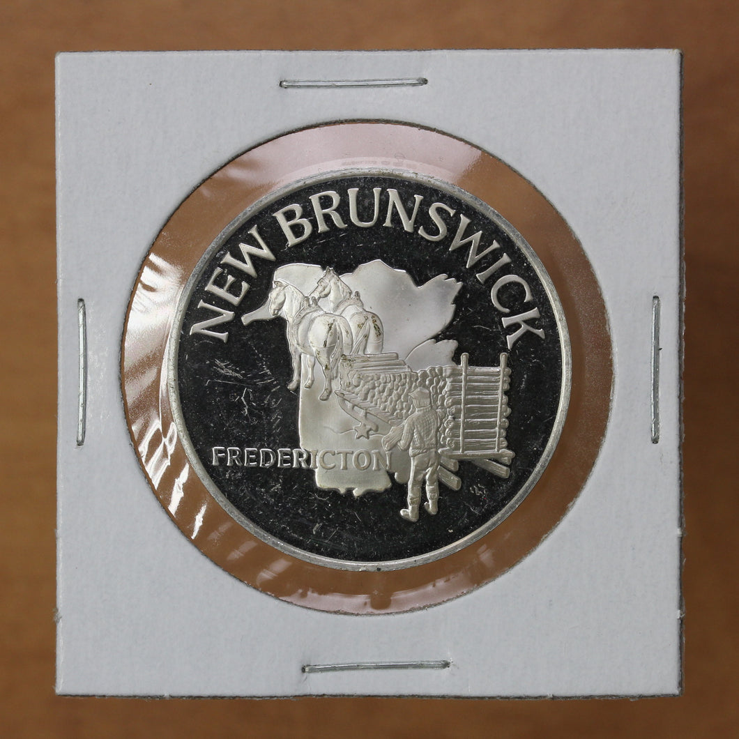 Canada - New Brunswick, Fredericton - Sterling Silver Medallion - FM Stamp