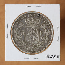Load image into Gallery viewer, SOLD - 1869 - Belgium - 5 Francs - EF40