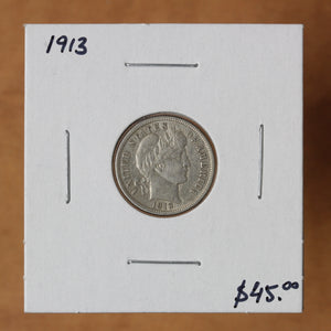 SOLD - 1913 - USA - 10c - EF40 - retail $45 - 45% OFF!
