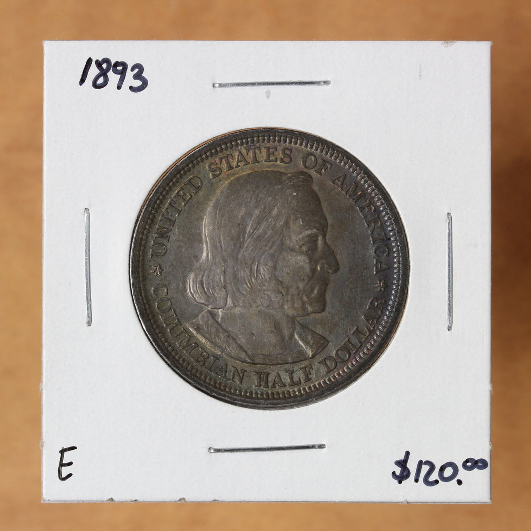 SOLD - 1893 - USA - 50c - Columbian Exposition Commemorative - UNC - retail $120 - 30% OFF!