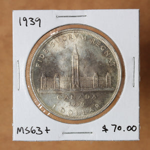 1939 - Canada - $1 - MS63+ - retail $70