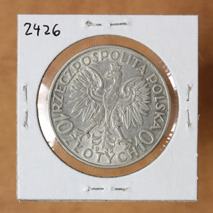1932 - Poland - 10 Zlotych - Queen Jadwiga (No Mint Mark) - retail $60