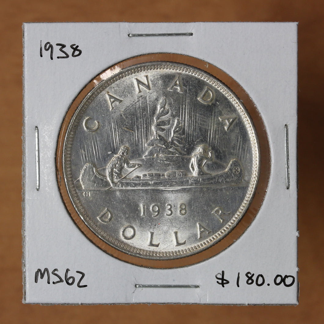 SOLD - 1938 - Canada - $1 - MS62 - retail $180