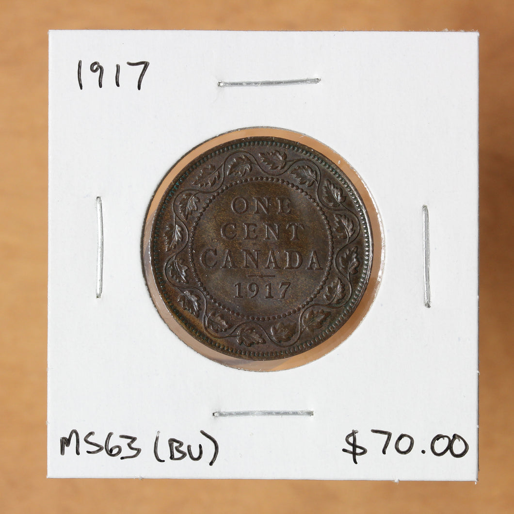 SOLD - 1917 - Canada - 1c - MS63 - retail $70
