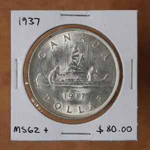 SOLD - 1937 - Canada - $1 - MS62+