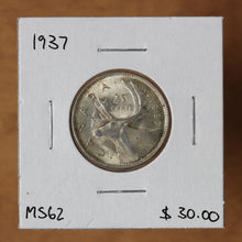 Load image into Gallery viewer, 1937 - Canada - 25c - MS62 - retail $30