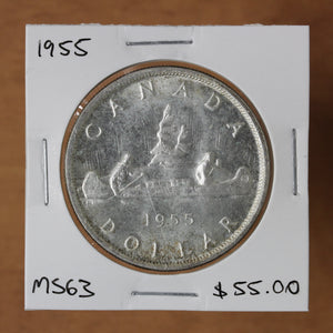 SOLD - 1955 - Canada - $1 - MS63 - retail $55