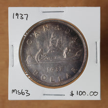 Load image into Gallery viewer, SOLD - 1937 - Canada - $1 - MS63 - retail $100