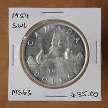 Load image into Gallery viewer, 1954 - Canada - $1 - SWL - MS63 - retail $85