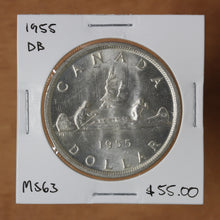 Load image into Gallery viewer, SOLD - 1955 - Canada - $1 - DB - MS63 - retail $55