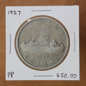 SOLD - 1937 - Canada - $1 - Pocket Piece
