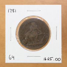 Load image into Gallery viewer, 1781 - North American Token - G4