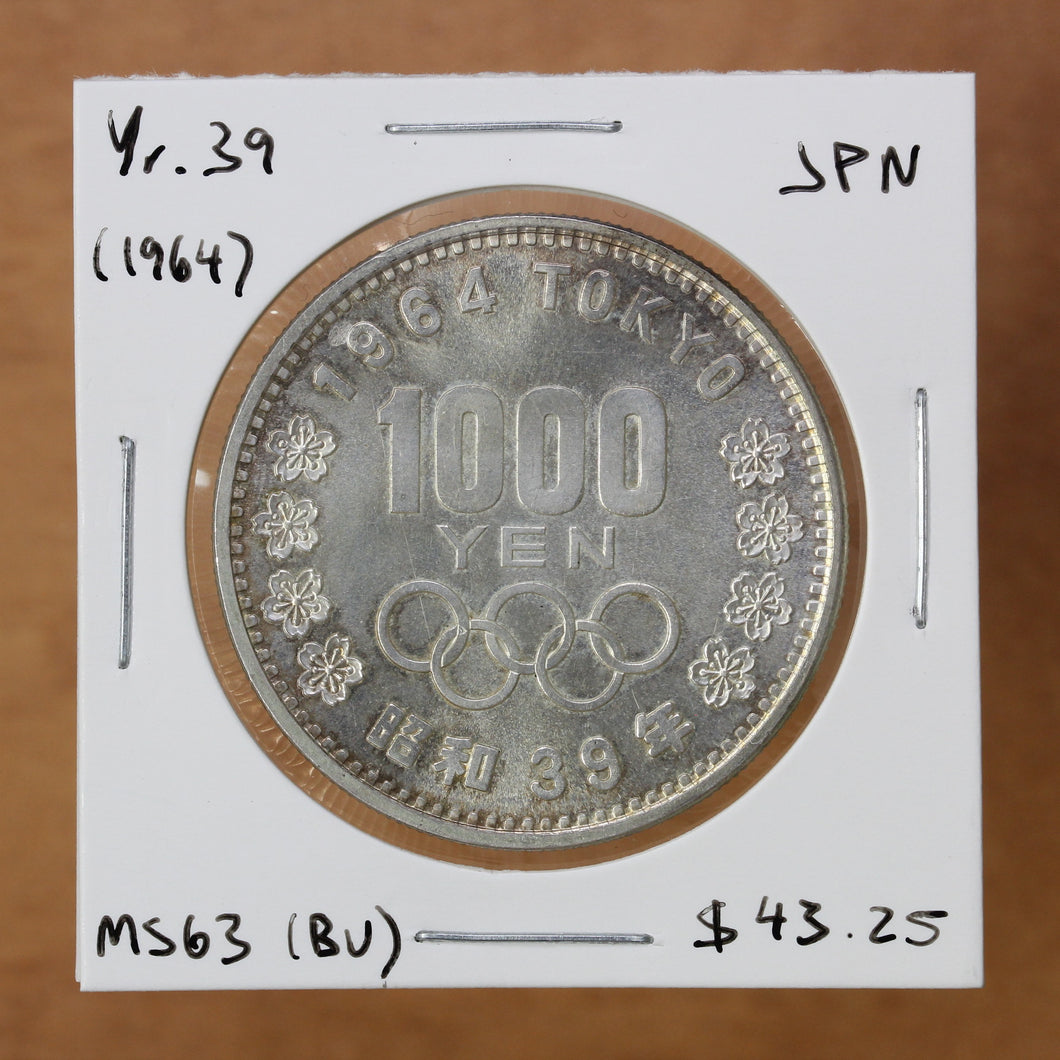 SOLD - 1964 (Yr. 39) - Japan - 1000 Yen - MS63