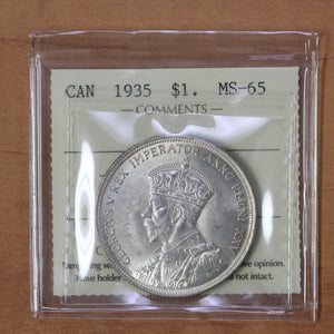 SOLD - 1935 - Canada - $1 - MS65 ICCS - retail $250 - 25% OFF!