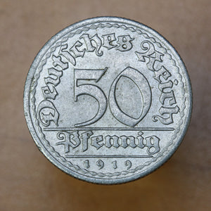 1919 E - Germany (Weimar Republic) - 50 Pfennig - UNC