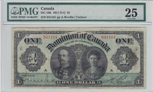 Load image into Gallery viewer, (1911) - Dominion of Canada - $1 - VF25 PMG