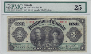 1911 - Dominion of Canada - 1 Dollar - VF25 PMG