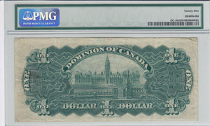 (1911) - Dominion of Canada - $1 - VF25 PMG