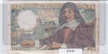 Load image into Gallery viewer, SOLD - 1942 - France - 100 Francs - VG8