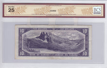 Load image into Gallery viewer, SOLD - 1954 - Bank of Canada - $10 - DF - VF25 BCS