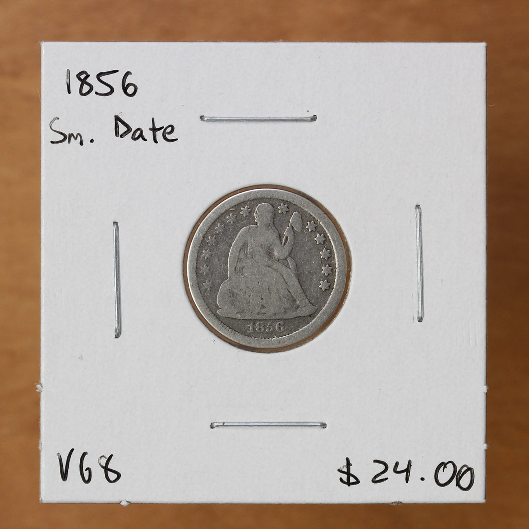 1856 - USA - 10c - Small Date - VG8 - retail $24