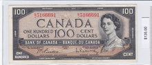Load image into Gallery viewer, SOLD - 1954 - Canada - 100 Dollars - B/J 5166691