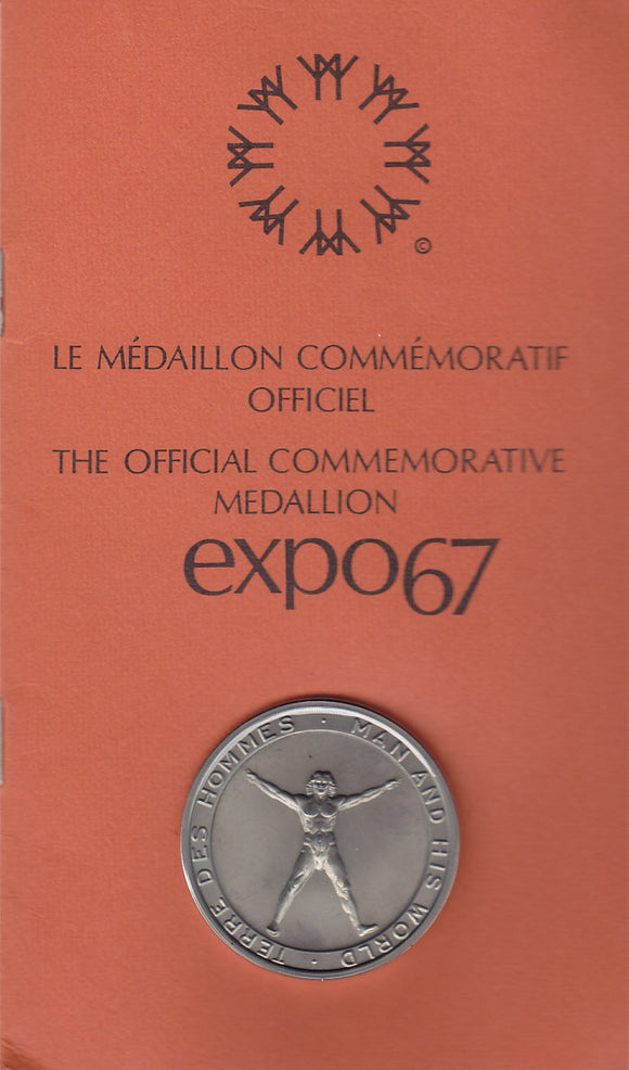SOLD - 1967 - Expo67 Commemorative Medallion