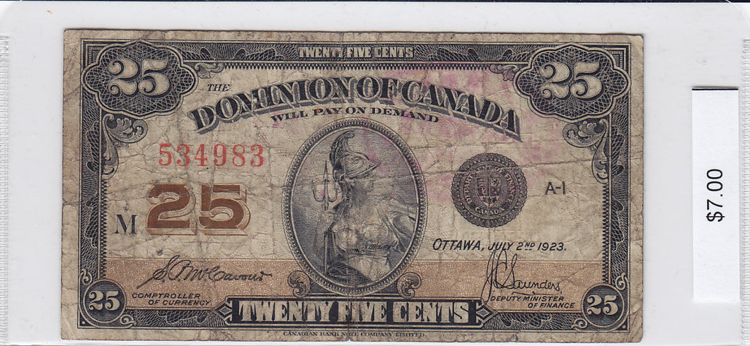 1923 - Canada - 25 Cents - 534983/M