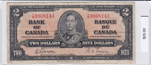 SOLD - 1937 - Canada - 2 Dollars