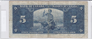 SOLD - 1937 - Canada - 5 Dollars - D/S 9889618