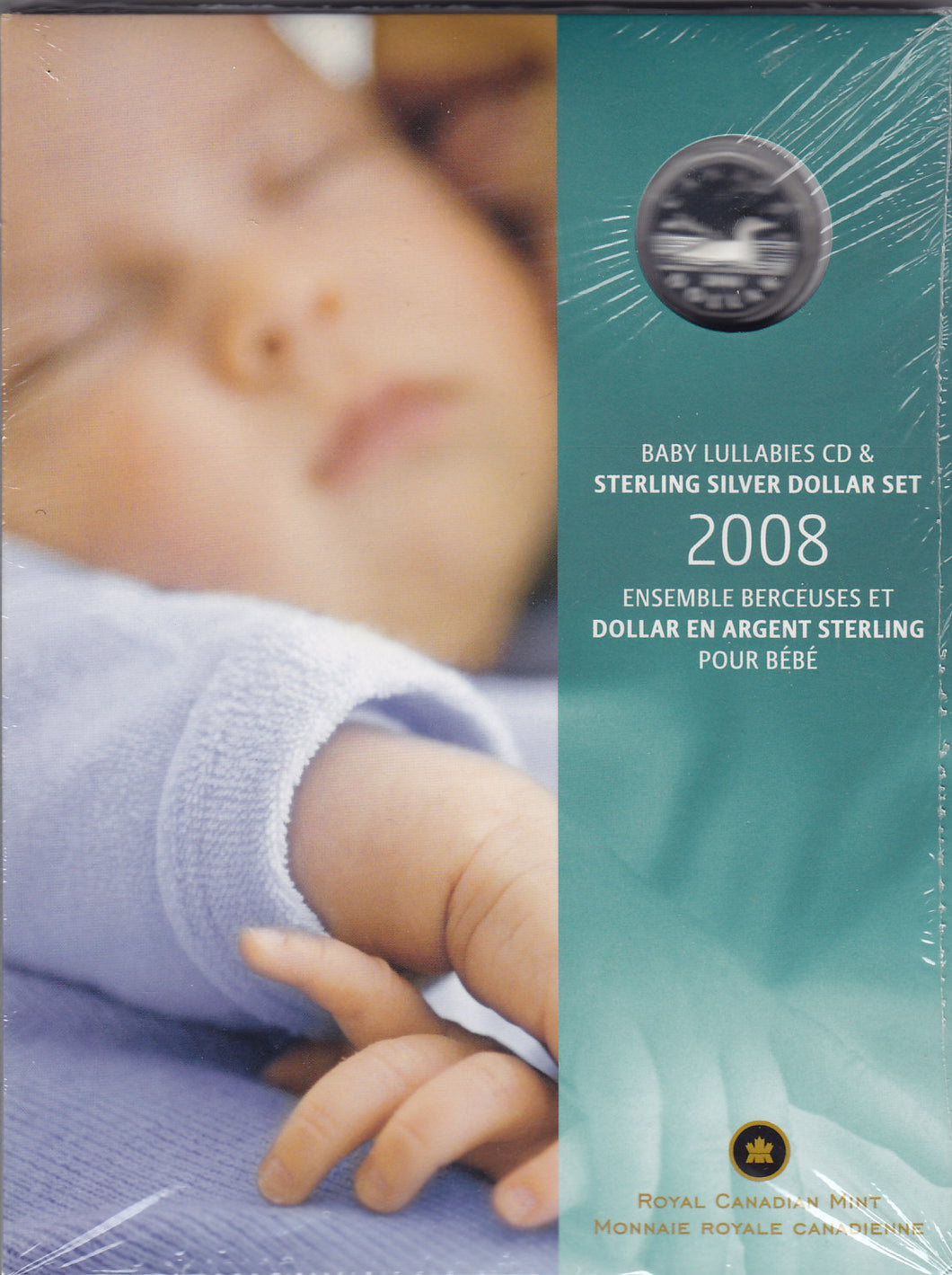 SOLD - 2008 - Canada - $1 - CD & Sterling Silver Dollar Set - Proof