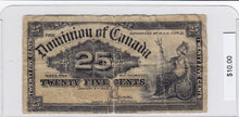 Load image into Gallery viewer, 1900 - Canada - 25 Cents - Saunders - $10