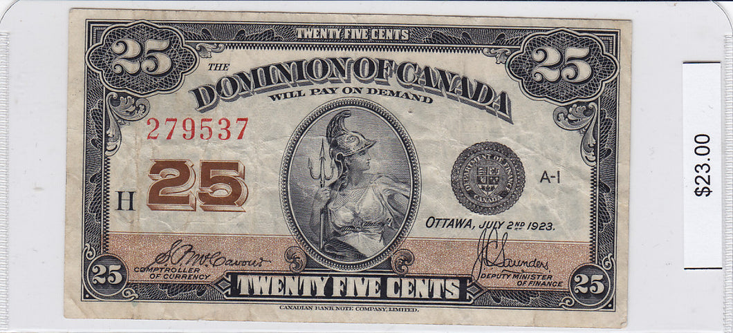 1923 - Canada - 25 Cents - 279537/H