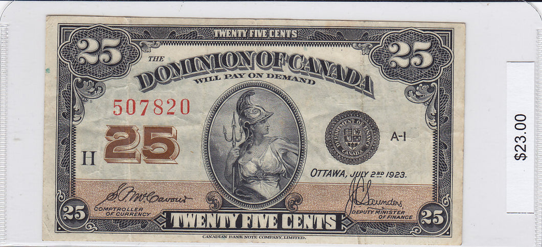1923 - Canada - 25 Cents - 507820/H