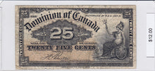 Load image into Gallery viewer, 1900 - Canada - 25 Cents - Boville - $12