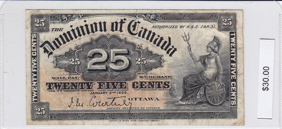 1900 - Canada - 25 Cents - Courtney