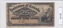 Load image into Gallery viewer, 1900 - Canada - 25 Cents - Boville - $11