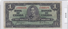Load image into Gallery viewer, SOLD - 1937 - Canada - 1 Dollar - J/N 5860176