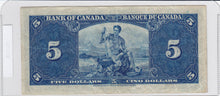 Load image into Gallery viewer, 1937 - Canada - 5 Dollars - K/C 2368888