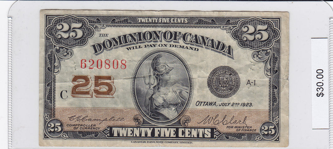 1923 - Canada - 25 Cents - 620808/C