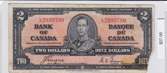 1937 - Canada - 2 Dollars - Coyne / Towers - L/R 2899790