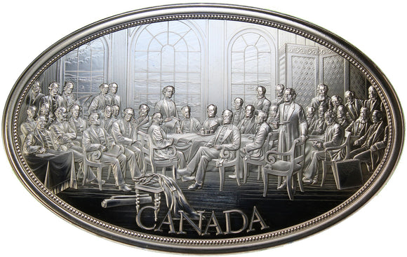 5 oz - Medal - Fathers of Confederation (CHM) - Ag 999