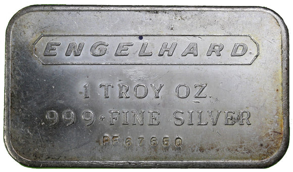 1 oz - Bar - Engelhard - Fine Silver Bar