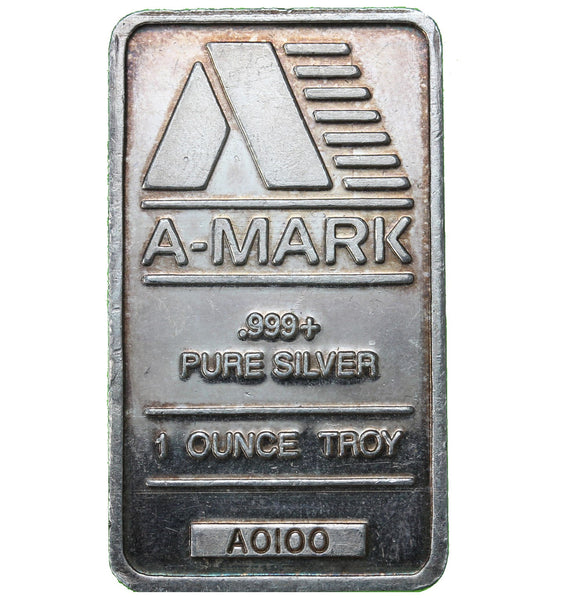 1 oz - Bar - A-Mark - Fine Silver Bar