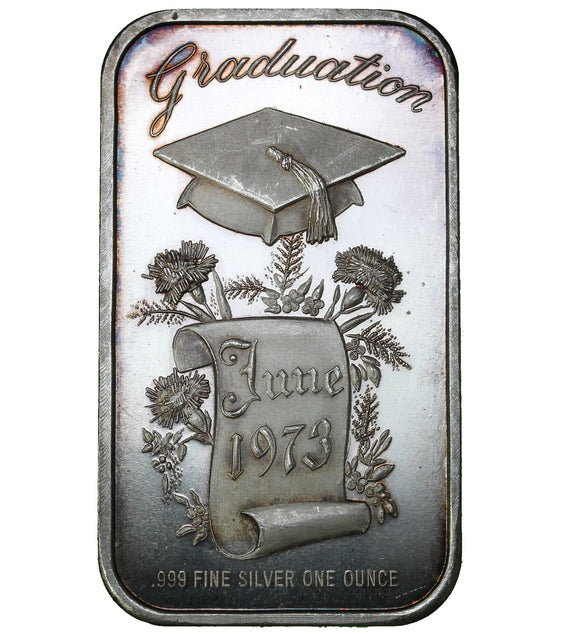 1 oz - Bar - Madison Mint - Graduation - Fine Silver Bar