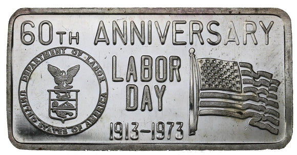 1 oz - Great Lakes Mint - Labor Day 1973 - Fine Silver Bar