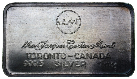 1 oz - The Jacques Cartier Mint - Fine Silver Bar